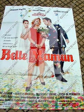 AFFICHE DE CINEMA : BELLE MAMAN (DENEUVE, LINDON, M SEIGNER, ) - . FORMAT : 120x160. (Weight= 246...