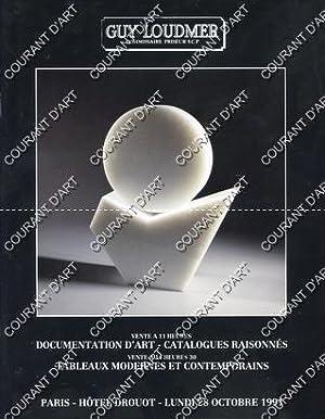 DOCUMENTATION D'ART. CATALOGUES RAISONNES. TABLEAUX MODERNES ET: HOTEL DROUOT. SALLE