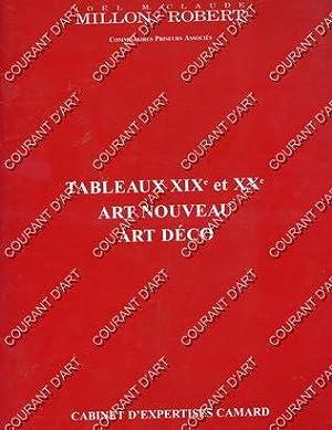 TABLEAUX XIXe ET XXe. ART NOUVEAU. ART: DROUOT RICHELIEU. SALLE