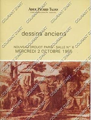 DESSINS ANCIENS. AQUARELLES. [BIDAULT. BOISSIEU. DE BOULOGNE.: NOUVEAU DROUOT. SALLE