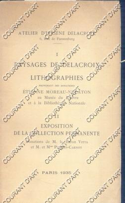 I- PAYSAGES DE DELACROIX ET LITHOGRAPHIES, PROVENANT