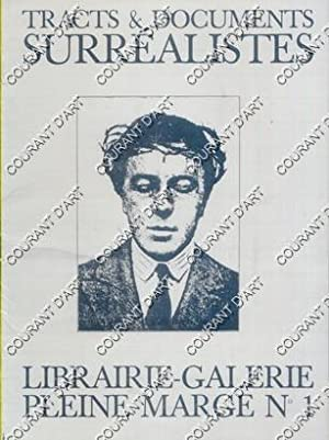 TRACTS ET DOCUMENTS SURREALISTES. LIBRAIRIE GALERIE PLEINE MARGE N°1. (Weight= 54 grams)
