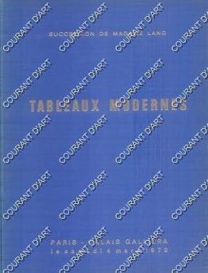 SUCCESSION DE MADAME LANG. TABLEAUX MODERNES. DESSINS.: PALAIS GALLIERA