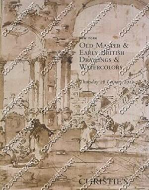 OLD MASTER & EARLY BRITISH DRAWINGS & WATERCOLOURS. [BOSCOLI. GIONIMA. CLAUDE VIGNON. VAN GOYEN. ...