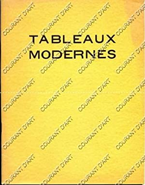 TABLEAUX MODERNES. AQUARELLES. PASTELS. GOUACHES. DESSINS. SCULTURES.: HOTEL DROUOT. SALLE