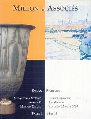 ART NOUVEAU - ART DECO. OEUVRES SUR: DROUOT RICHELIEU. SALLE