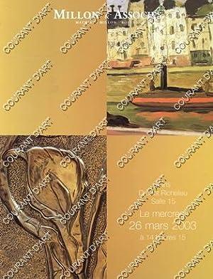 TABLEAUX MODERNES. ART NOUVEAU. ART DECO. [GRASSET.: DROUOT RICHELIEU. SALLE