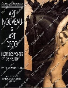 ART NOUVEAU & ART DECO. [POE. LALIQUE.: HOTEL DES VENTES