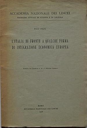 L'ITALIA DI FRONTE A QUALCHE FORMA DI: Papi Ugo