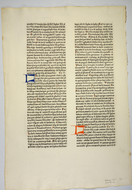 Biblia. (GW 4218, HC 3056). 1. Buch