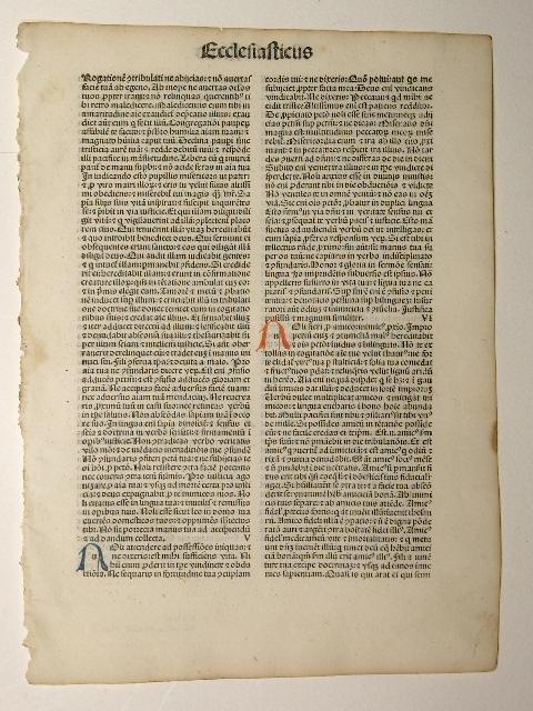 Biblia - Ecclesiasticus cap. IV-VIII (GW 04255,