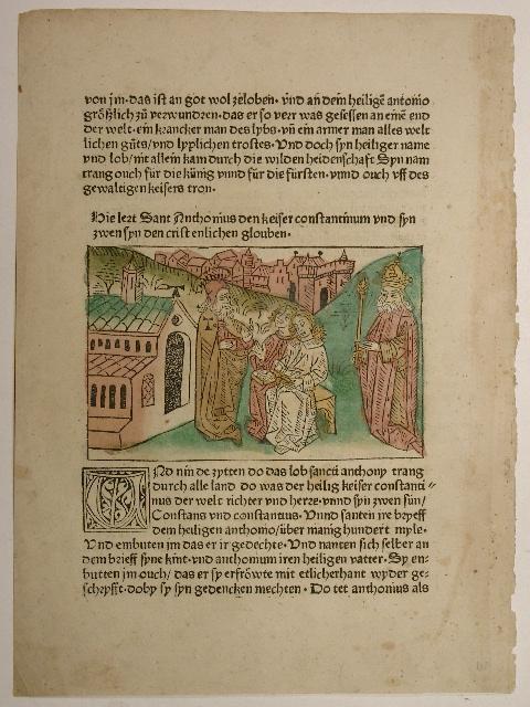 Vitas patrum, deutsch. Leben der heiligen Altväter.