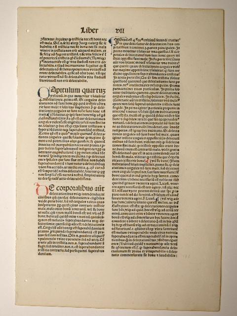 Expositio in Aristotelis Ethica Nicomachea. (GW 5778,: Burlaeus, Gualtherus: