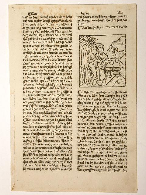 Vitas patrum, deutsch (Leben der Heiligen Altväter,