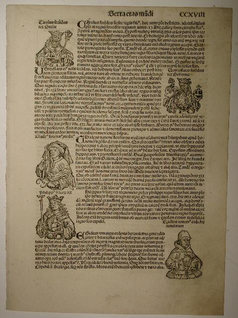 Liber chronicarum, Folium CCXVIII. (Holzschnitte von Michael: Hartmann Schedel: