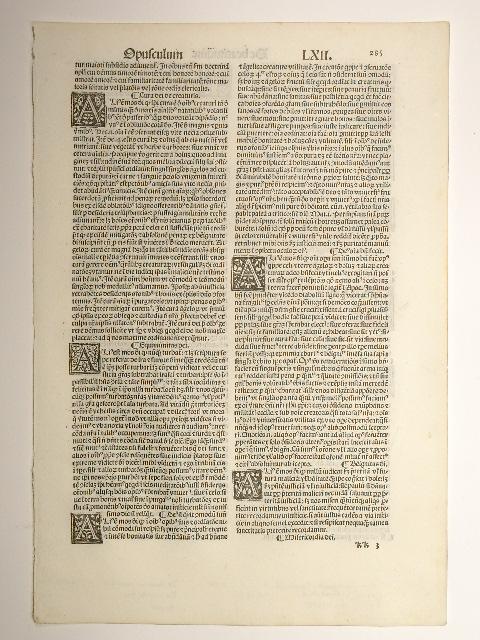 Opuscula, Blatt 285, Tract. LXII und LXIII: Thomas de Aquino:
