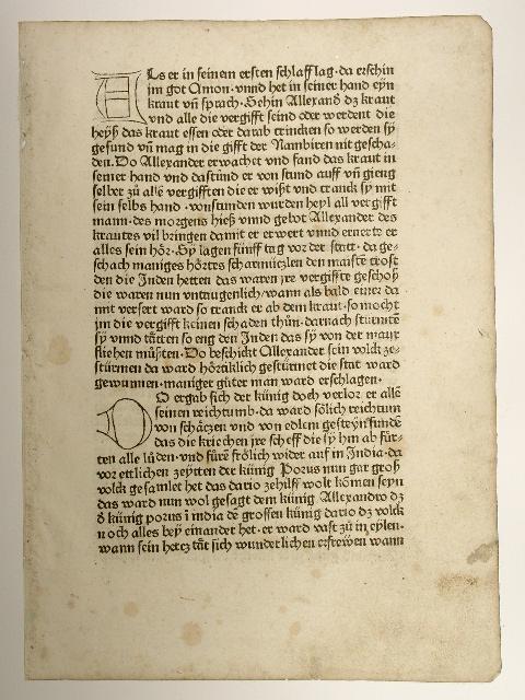 Historia Alexandri Magni deutsch in der Fassung