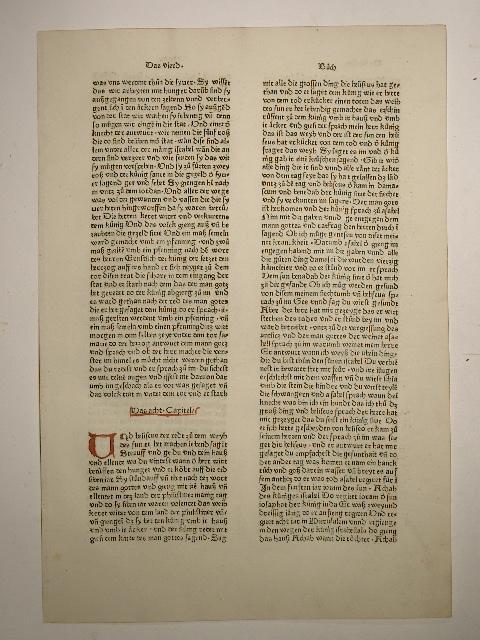 Biblia deutsch (7. deutsche Bibel). (GW 4301).