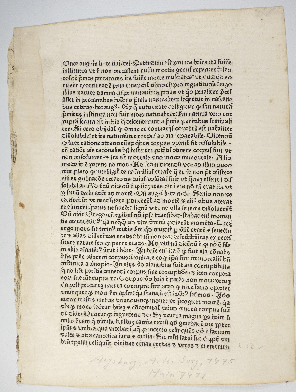 Speculum regiminis. (HC 7411, GW 6277).: Dionysius Pseudo -