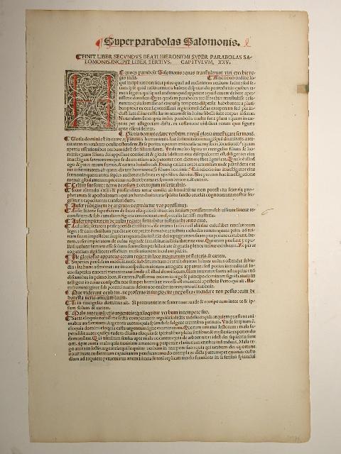Opera, Liber primus super Zachariam prophetam: ad: Sophronius Eusebius Hieronymus: