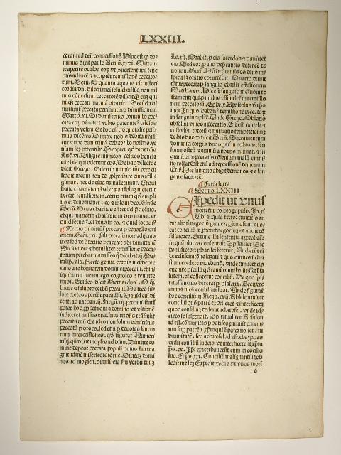 Sermones quadragesimales Thesauri novi. (GW M41835, C: Pseudo-Petrus (de palude):