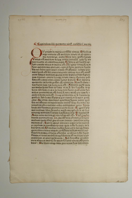 Sophologium, Capitulum IIII Quomodo virtibus consistit i: Jacques Legran: