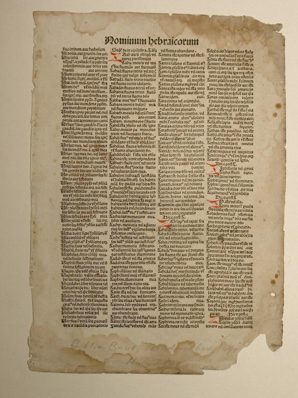 Biblia latina. (GW 4267, H 3108).