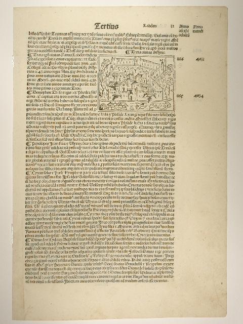 Supplementum Chronicarum. Blatt: Liber tertius Anno mundi: Giacomo Filippo Foresti