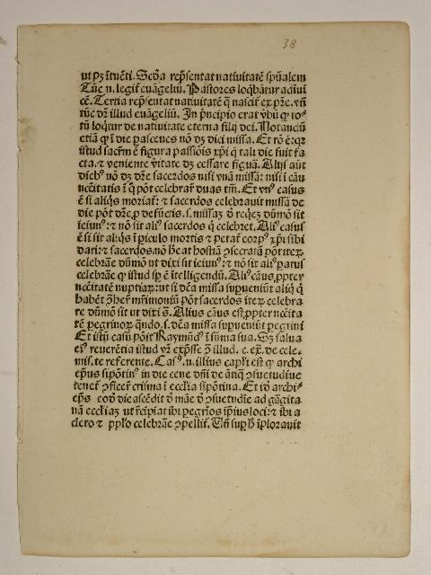Manipulus curatorum. (GW 11792, H 8182). (Blatt: Guido de Monte