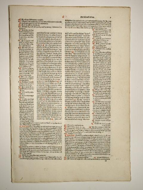 """Corpus iuris civilis. Novellae. Blatt 9 """"De"""