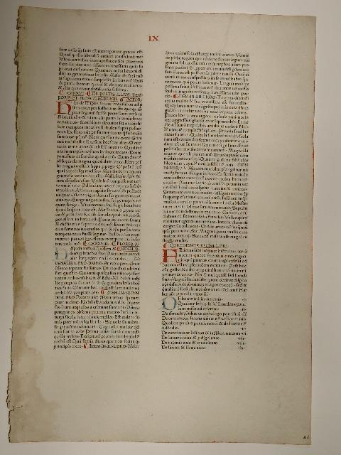 Speculum historiale. Blatt aus: Secundi Voluminis Liber: Vincentius Bellovacensis: