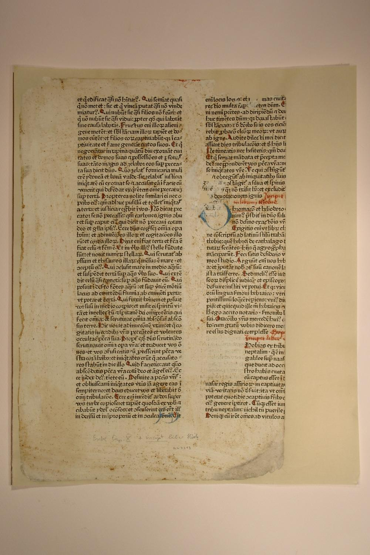 Biblia (GW 4213, HC 3038). Blatt aus