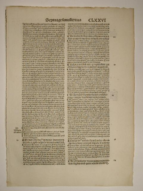 Postilla super psalterium. Psalmus (GW 13579, HC: Hugo de Sancto