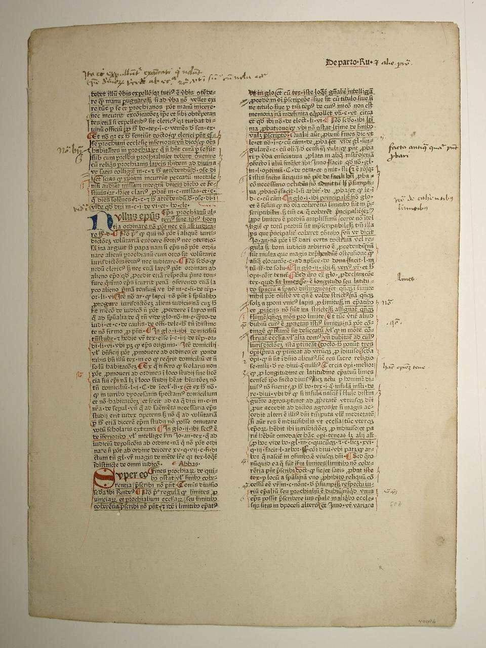 Super libros Decretalium 3. De parto Ru: Nicolaus de Tudeschis: