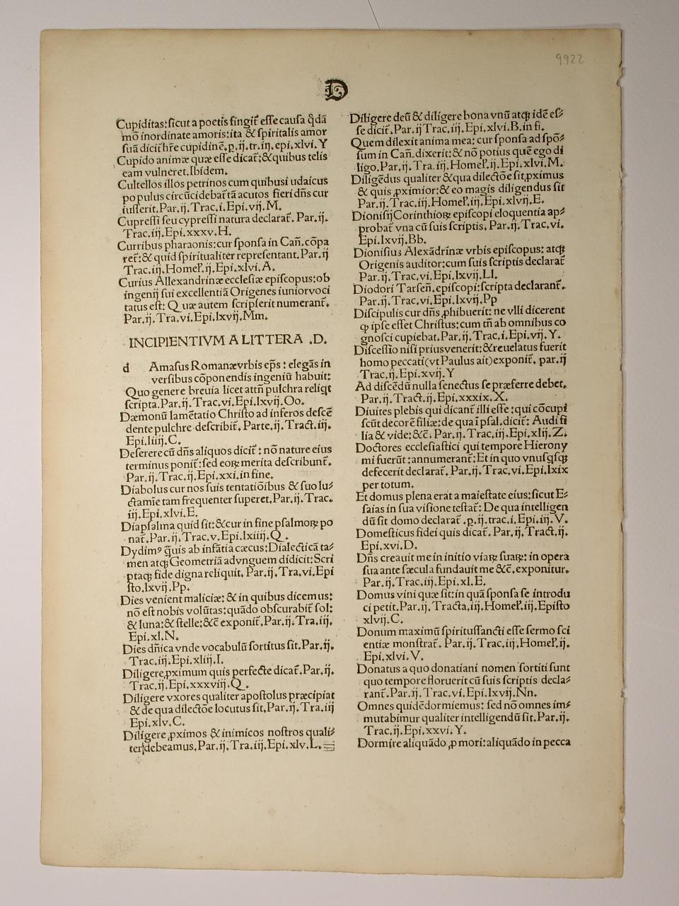 Epistolae. Pars II. (GW 12436, HC 8565).: Sophronius Eusebius Hieronymus: