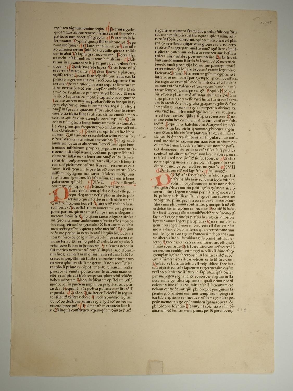 Speculum doctrinale. (GWM 50560, C 6242), Capitulum: Bellovacensis Vincentius (Vincent