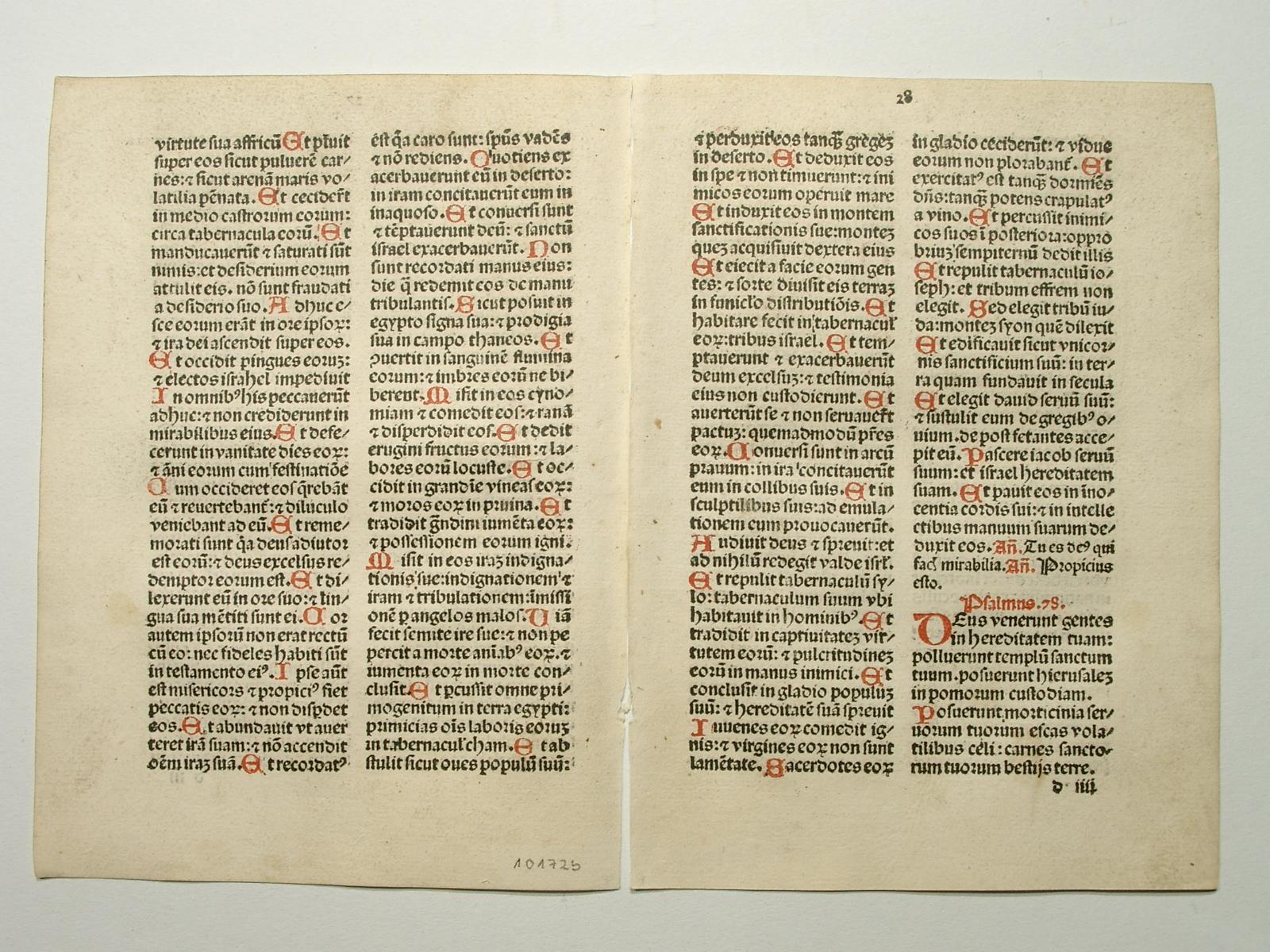 Breviarium Augustanum. Blatt 27 und 28. (GW