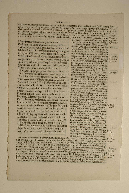 Comoediae. Mit Kommentar von Aelius Donatus und: Publius Terentius Afer:
