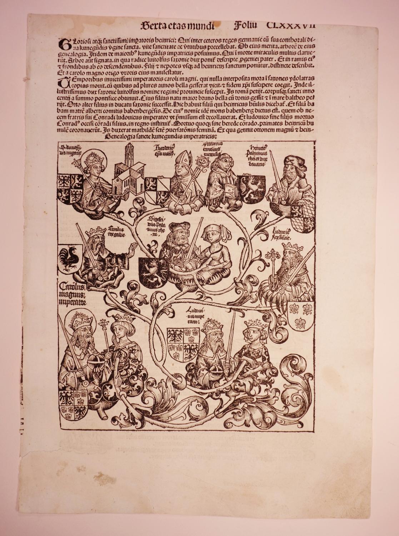 Tanz auf dem Friedhof und Genealogie der: Hartmann Schedel: