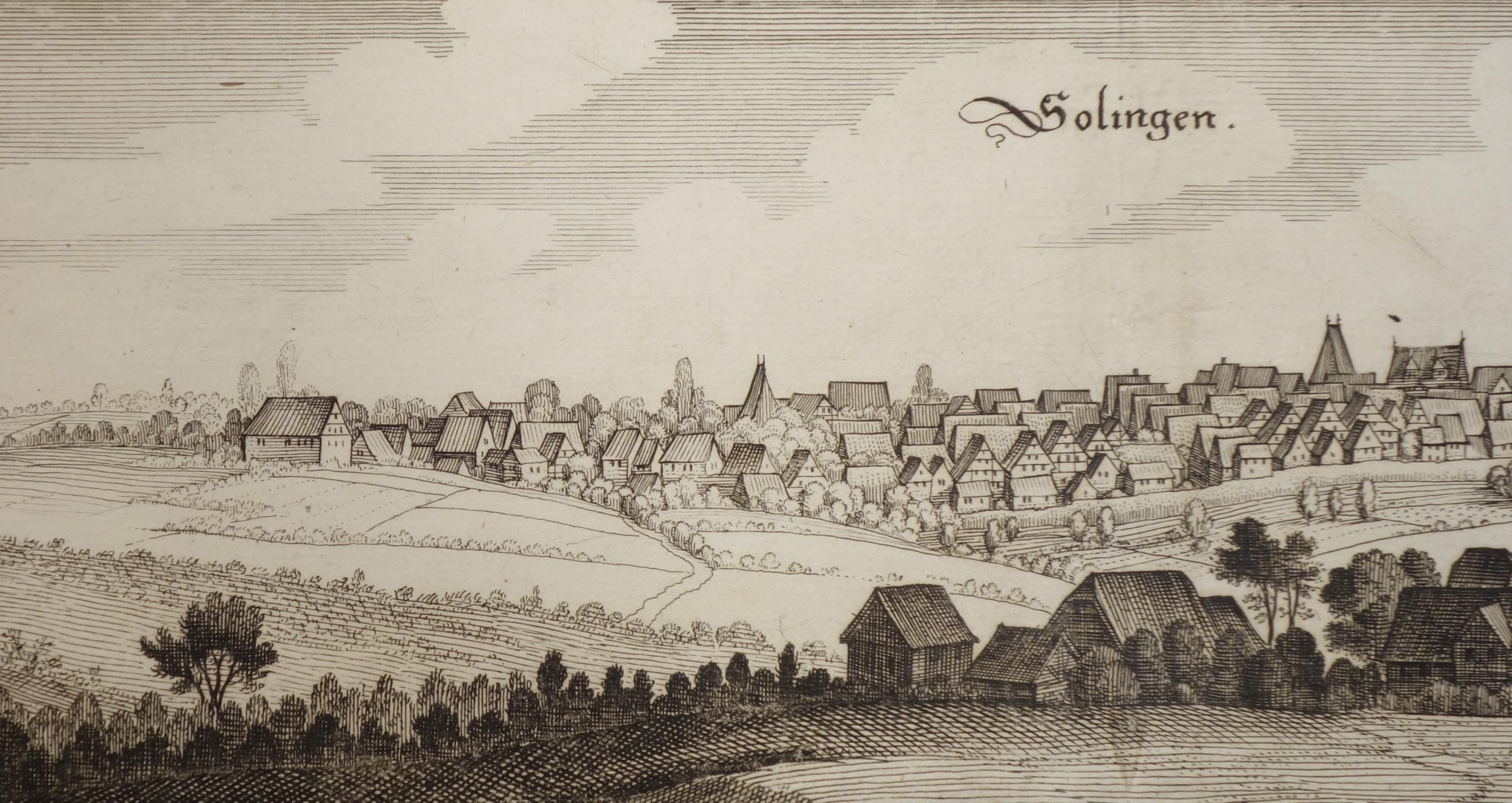 Ansicht von Solingen (Wüthrich IV, S. 227,: Matthaeus Merian: