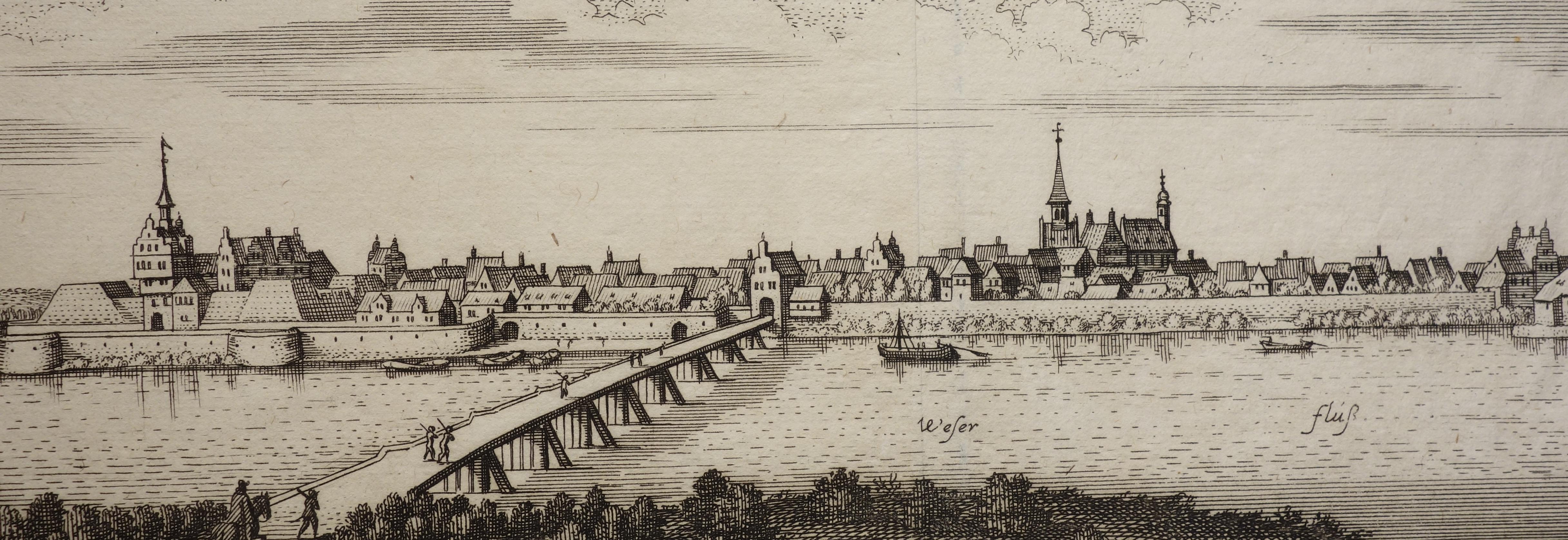 Ansicht von Nienburg. (Wüthrich IV, S. 226,: Matthaeus Merian:
