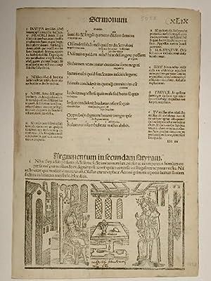 Opera. Sermonum. Blatt XLIX. Comm: Porphyrion, Mancinellus,: Quintus Horatius Flaccus