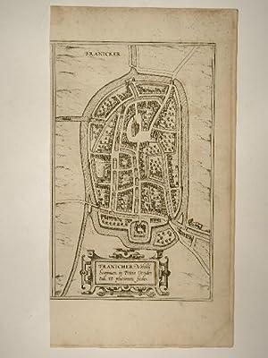 Stadtansicht von Franeker in den Niederlanden -: Braun & Hogenberg:
