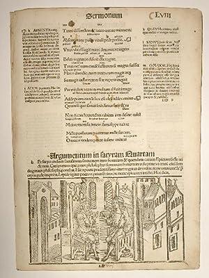 Opera. Sermonum Liber Secundus. Blatt LVIII. Comm: Quintus Horatius Flaccus