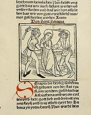 Leben der Heiligen (Legenda aurea sanctorum, sive: Jacobus de Voragine):