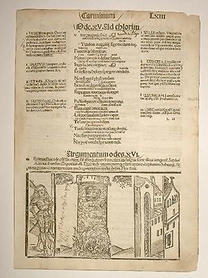 Opera. Carminum. Blatt XLIII. Comm: Porphyrion, Mancinellus,: Quintus Horatius Flaccus