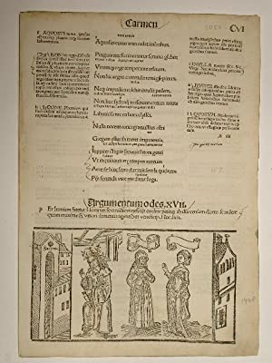 Opera. Epodon Carmen. Blatt CVI. Comm: Porphyrion,: Quintus Horatius Flaccus