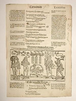 Opera. Carminum. Blatt LXXXVIII. Comm: Porphyrion, Mancinellus,: Quintus Horatius Flaccus