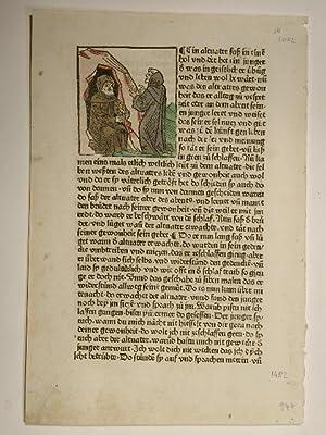 Vitas patrum, deutsch (Leben der heiligen Altväter).Blatt: Hieronymus (Sophronius Eusebius):