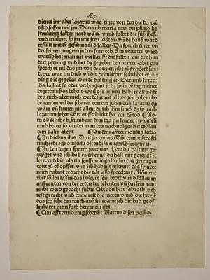 Plenarium, deutsch. (GWM 34098, H 6728). Blatt